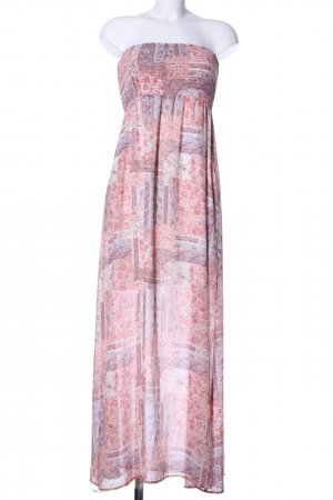 Tom Tailor Bandeaukleid pink-lila Allover-Druck Casual-Look