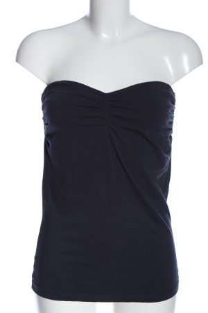 Tom Tailor Bandeau top blauw casual uitstraling