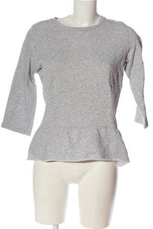 Tom Tailor Basic-Shirt hellgrau meliert Casual-Look
