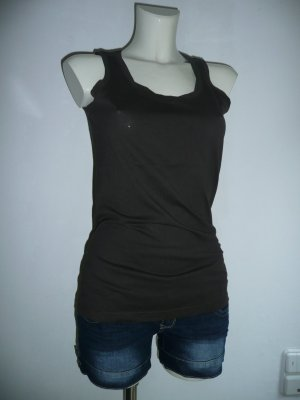 Tom Tailor Basic Tank Top braun Gr M