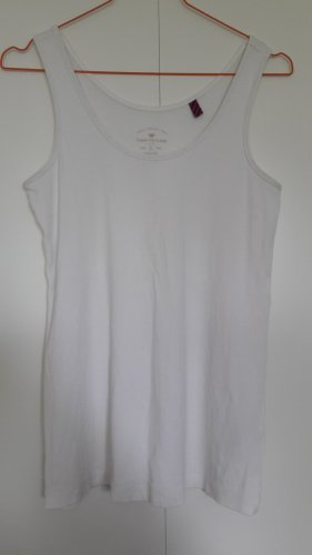 Tom Tailor Basic Tanktop weiß Gr. S
