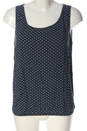 Tom Tailor Basic Top blau-weiß Allover-Druck Casual-Look