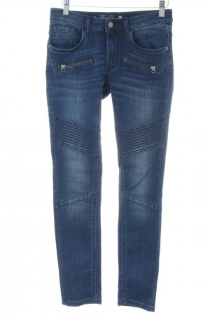 Tom Tailor Bikerjeans blau Casual-Look