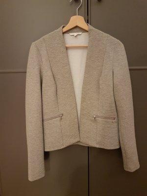 Tom Tailor Blazer knitterfrei grau