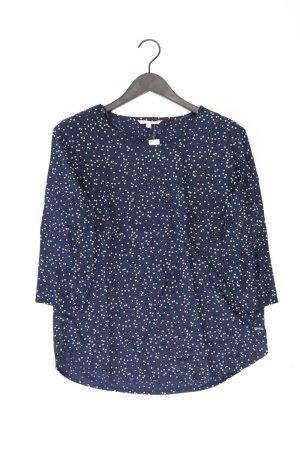Tom Tailor Bluse Größe M gepunktet 3/4 Ärmel blau aus Viskose