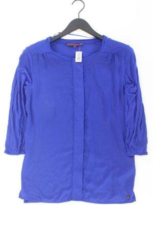 Tom Tailor Bluse Größe S 3/4 Ärmel blau aus Viskose