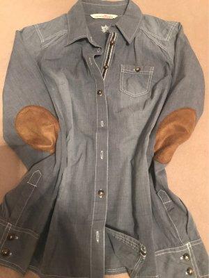 Tom Tailor Denim Jeansowa koszula szary niebieski Bawełna