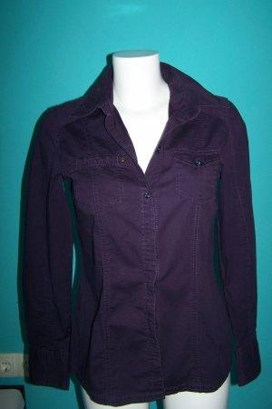 Tom Tailor Blouse en jean violet coton