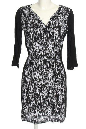 Tom Tailor Blusenkleid schwarz-weiß abstraktes Muster Casual-Look