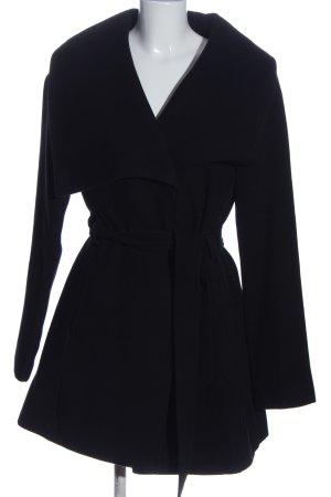 Tom Tailor bodenlanger Mantel schwarz Casual-Look