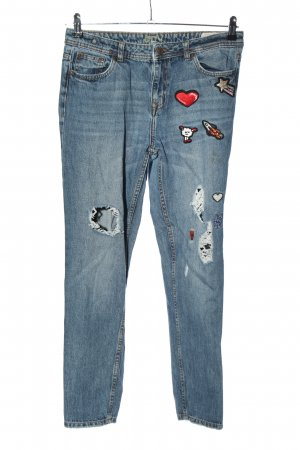 Tom Tailor Boyfriend Jeans embroidered lettering simple style