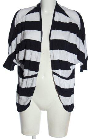 Tom Tailor Cardigan weiß-schwarz Streifenmuster Casual-Look
