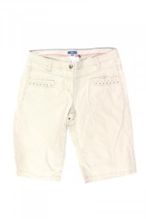 Tom Tailor Cargo-Shorts Größe S creme aus Baumwolle