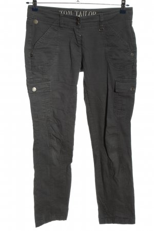 Tom Tailor Pantalone cargo grigio chiaro stile casual
