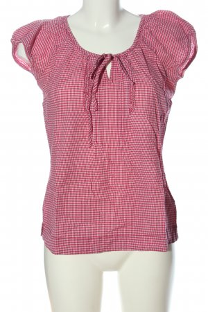 Tom Tailor Carmen-Bluse pink-weiß Allover-Druck Casual-Look