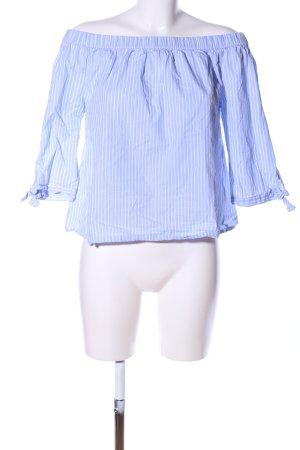 Tom Tailor Carmen-Bluse blau-weiß Streifenmuster Casual-Look