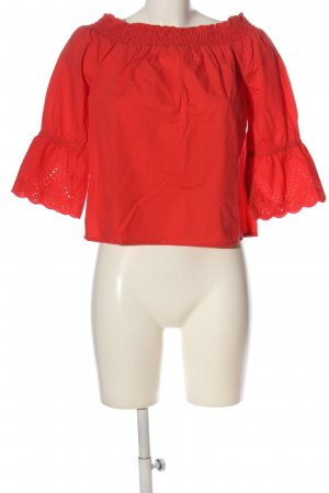 Tom Tailor Carmen-Bluse rot Casual-Look