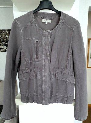 Tom Tailor Coole Leinen Jacke Cropped Kurzjacke Grau Casual Used Look 36