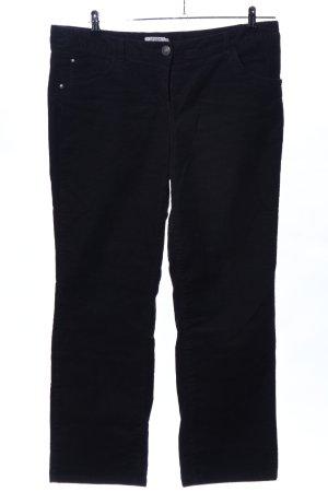 Tom Tailor Pantalon en velours côtelé noir style décontracté