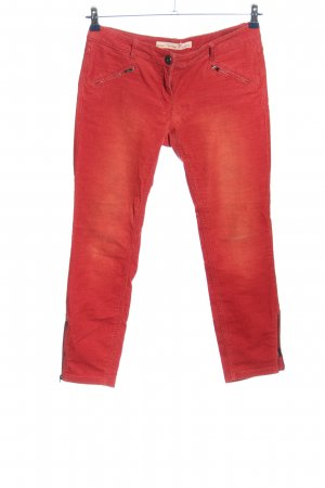 Tom Tailor Corduroy broek rood gestreept patroon casual uitstraling