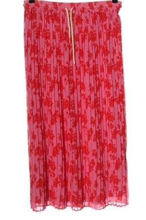 Tom Tailor Falda estilo Crash rosa-rojo look casual