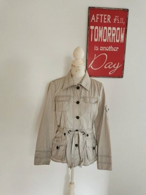 Tom Tailor Veste en jean brun sable coton