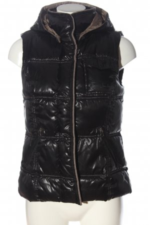 Tom Tailor Down Vest black quilting pattern casual look