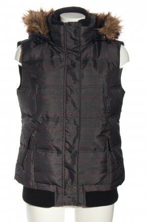 Tom Tailor Down Vest light grey-red check pattern casual look