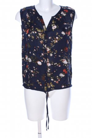Tom Tailor Denim ärmellose Bluse Blumenmuster Casual-Look
