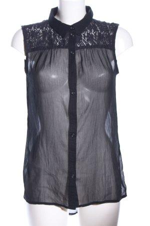 Tom Tailor Denim ärmellose Bluse schwarz Elegant