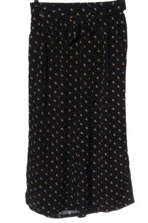 Tom Tailor Denim Luźne spodnie czarny Abstrakcyjny wzór W stylu casual