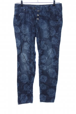 Tom Tailor Denim Baggy Pants blau Allover-Druck Casual-Look