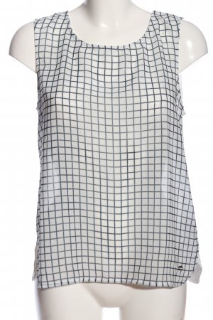 Tom Tailor Denim Basic Top white-black graphic pattern casual look