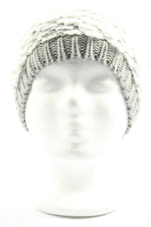 Tom Tailor Denim Bonnet blanc-gris clair torsades style décontracté