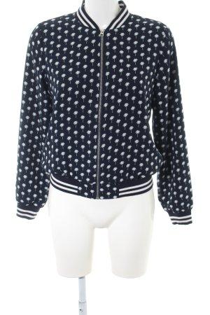 Tom Tailor Denim Blusenjacke schwarz-weiß Allover-Druck Casual-Look