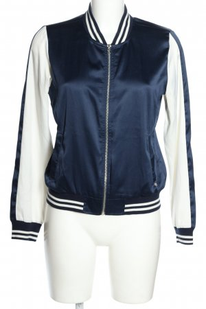 Tom Tailor Denim Chaqueta tipo blusa azul-blanco puro look casual