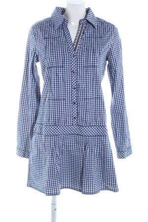 Tom Tailor Denim Blouse Dress blue-white check pattern casual look