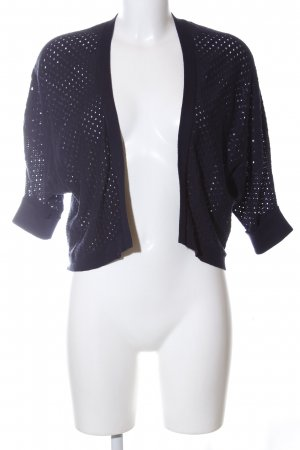 Tom Tailor Denim Cardigan blau Allover-Druck Casual-Look