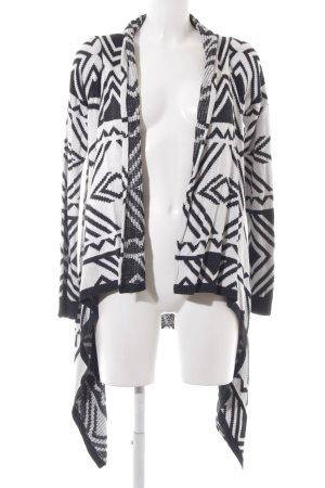 Tom Tailor Denim Cardigan schwarz-weiß abstraktes Muster sportlicher Stil