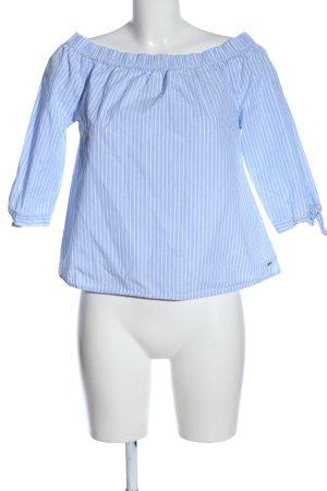 Tom Tailor Denim Carmen Blouse blue-white allover print casual look