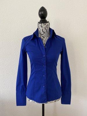 Tom Tailor Denim Damen Langarm Hemd Blau Gr. S TOP