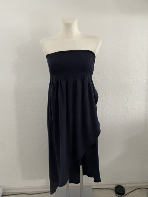 Tom Tailor Denim Bandeau Dress dark blue