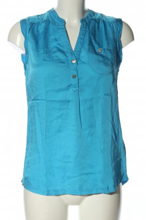 Tom Tailor Denim Blusa brillante azul elegante