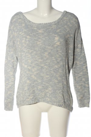 Tom Tailor Denim Häkelpullover hellgrau-creme meliert Casual-Look