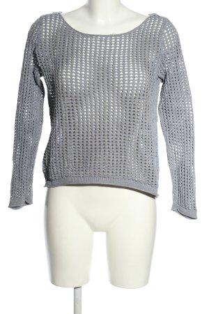 Tom Tailor Denim Top en maille crochet gris clair Motif de tissage