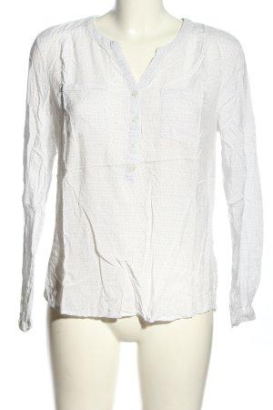 Tom Tailor Denim Hemd-Bluse weiß-schwarz meliert Casual-Look