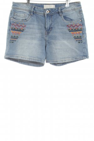 Tom Tailor Denim High-Waist-Shorts blau grafisches Muster Casual-Look