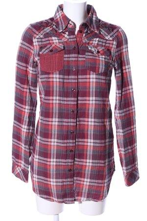 Tom Tailor Denim Lumberjack Shirt red-white allover print classic style