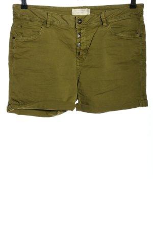 Tom Tailor Denim Hot Pants khaki-silberfarben Casual-Look