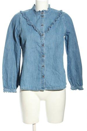 Tom Tailor Denim Jeansbluse blau Casual-Look